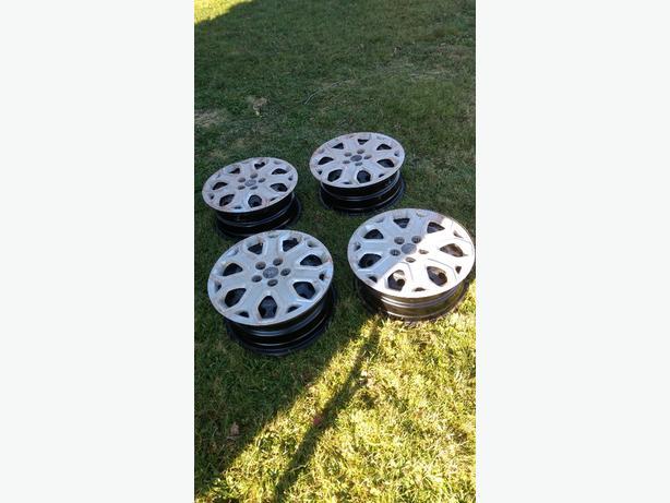 Rims, hub caps and tire sensors