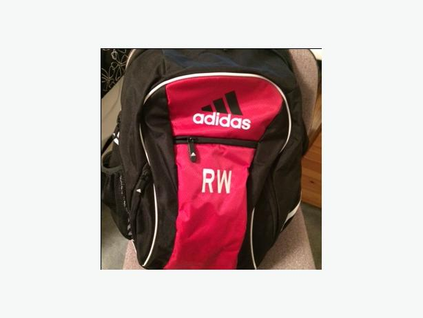 Child's Adidas soccer back pack