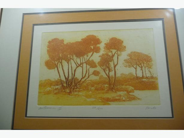 AUTUMM 1 AND 2,  Limited Edition Artists Prints