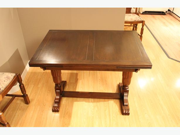 Oak Draw Leaf Dining Room Table From England