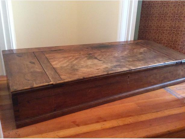 19C antique clerk's desk top