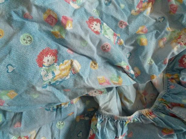 crib sheet Raggedy Ann and Andy