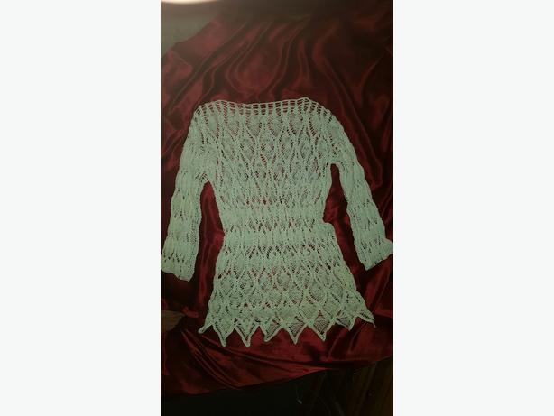 Only $60!! CROCHET LACY PEARL TOP