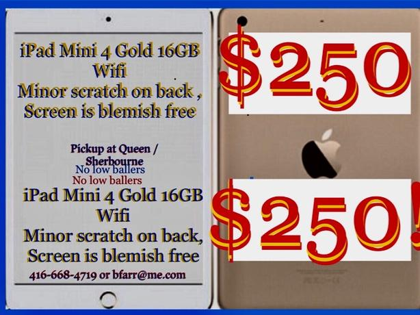 $250 ipad mini 4 16gb Gold Wifi $250