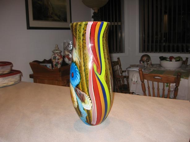Large Colorful Glass Vase From Pier One West Shore Langfordcolwood
