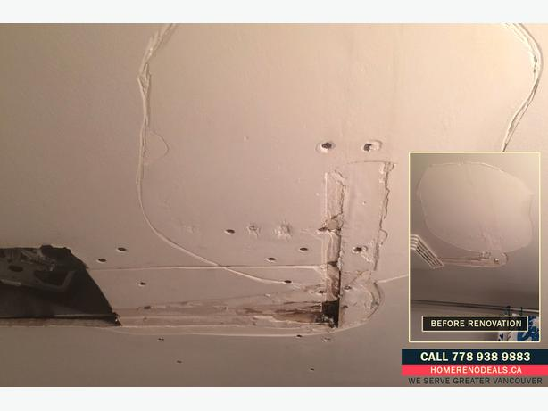 Ceiling and Bathroom Water Damage Repair Service