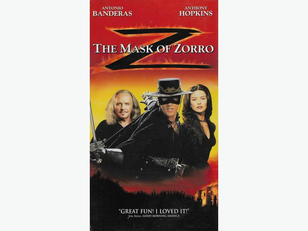 The Mask of Zorro, Antonio Banderas, Catherine Zeta-Jones Brand New & Sealed VHS