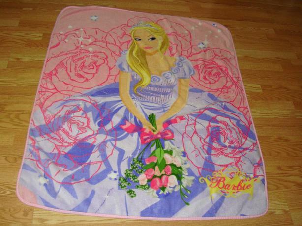 Like New Gorgeous Barbie Fleece Blanket - $45