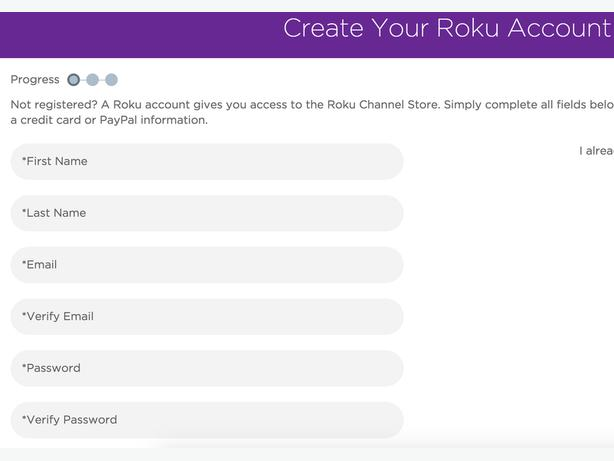 Setup Your Roku Account