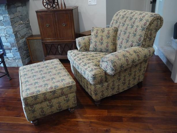 Ethan Allen Chair and matching Ottoman