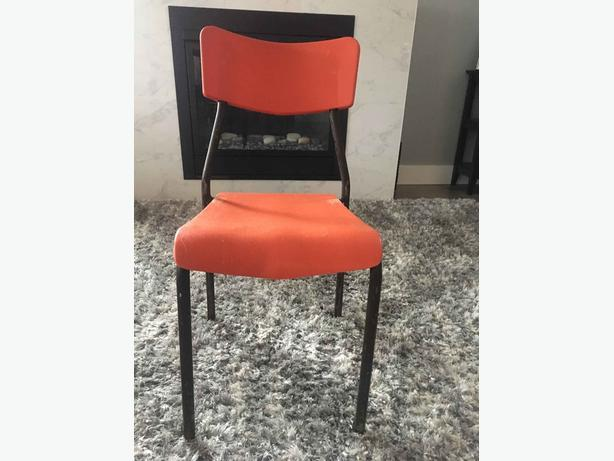 PVC and Metal Stacking Chairs