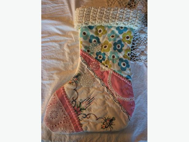 Handmade patchwork 20x12 in. Christmas stockings