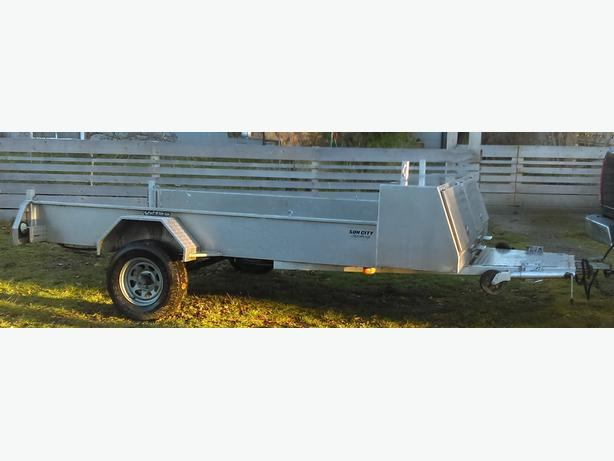 6x10 Express Custom Aluminum Trailer with storage box