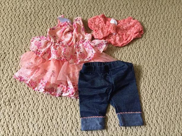 SMALL WONDERS 3 PIECE OUTFIT 3-6 MONTHS