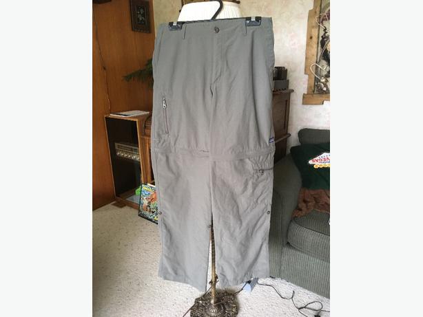 Ladies size 10 Patagonia zip off pants
