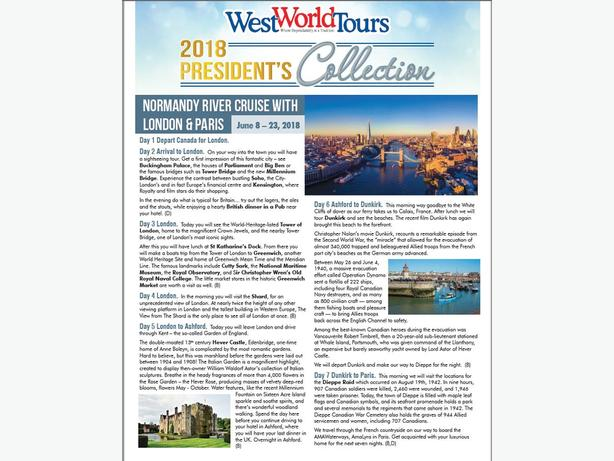 Normandy River Cruise, London & Paris
