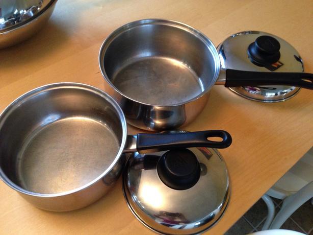 SS saucepans, wok, steamer