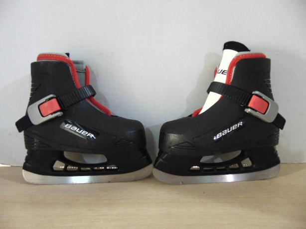Ice Skates Child Size 6-7 Toddler Infant Bauer Molded Plastic With Liner 41996ba92445