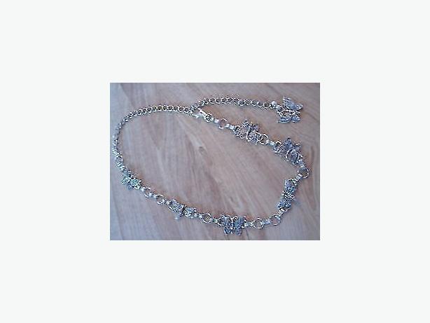 belt silver butterfly chain
