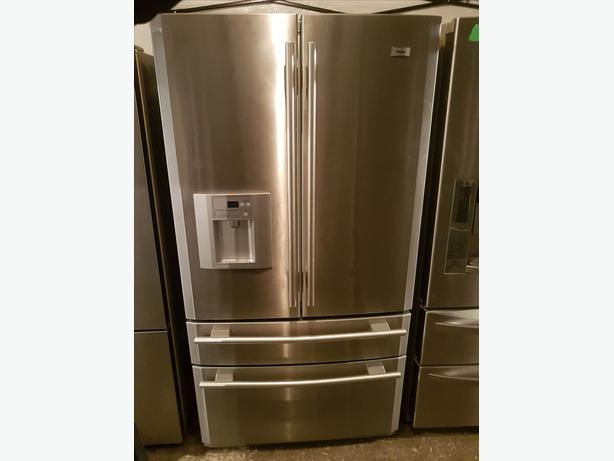 "36"" NEW HAIER FRENCH DOOR FRIDGE 2 SLIDE OUT FREEZERS"