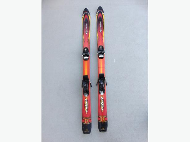 Ski 130 Rossignol Rebel With Bindings Red Yellow Orange