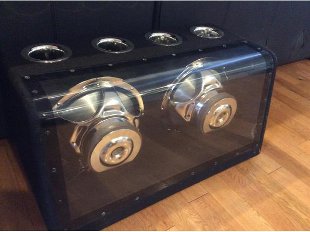 Subs with clear enclosure