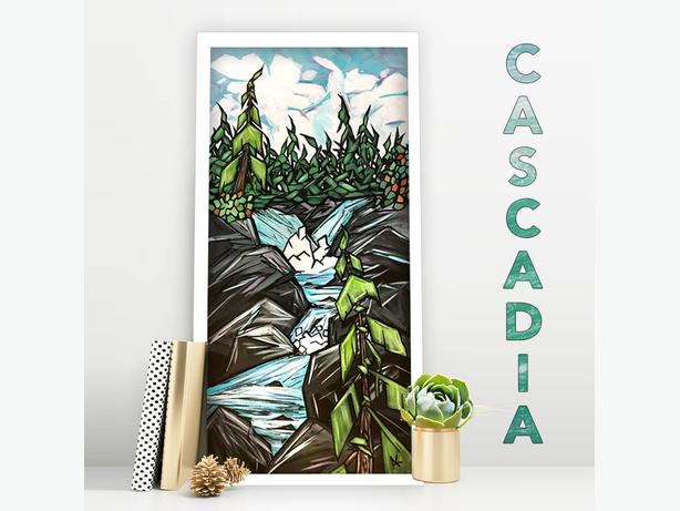 """CASCADIA"" ORIGINAL WEST COAST CONTEMPORARY PAINTING"