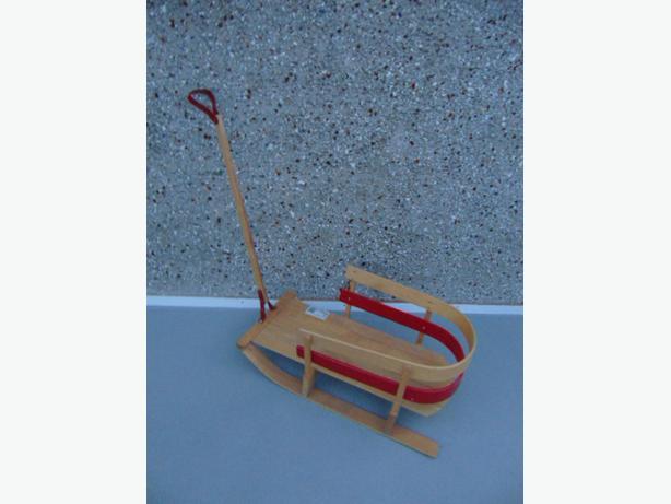 Snow Sled Toboggan Vintage Wood Children's Age 1-4