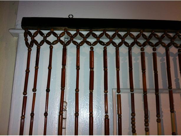 Wooden Bead Curtain Vintage