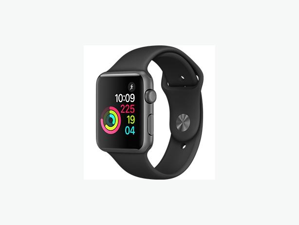 Apple Watch Space Grey Aluminium Case with Black Sport Band