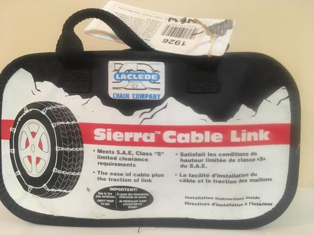 new cable link tire chains