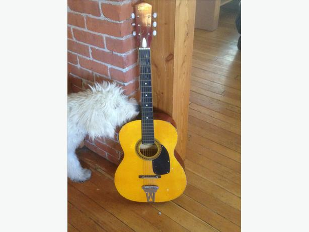 Used Canora Acoustic Guitar With Case