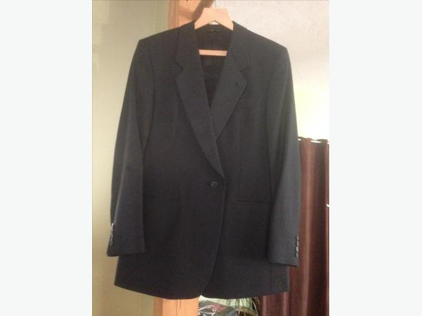 MENS BLACK ROSS AND HAMMON CUSTOM TAYLORED TUXEDO/SUIT and PANTS