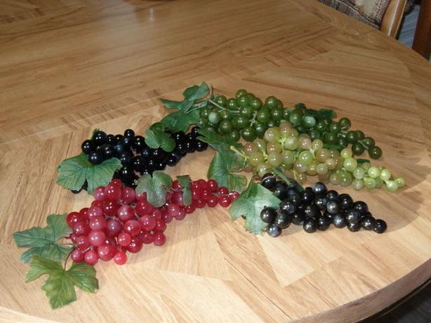 fruit grapes cluster artificial vintage