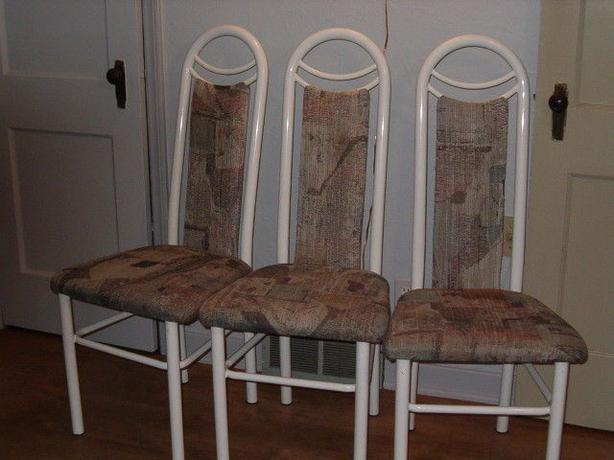 chairs for the kitchen , only three,