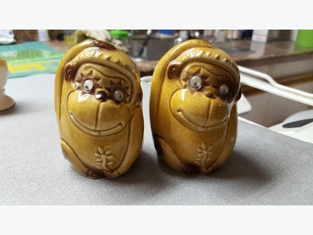 Vintage Monkey Salt and Pepper