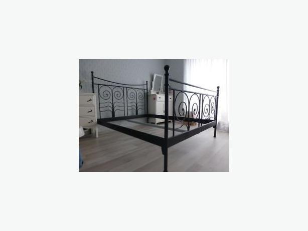 IKEA King Noresund Black Metal Bed Fram