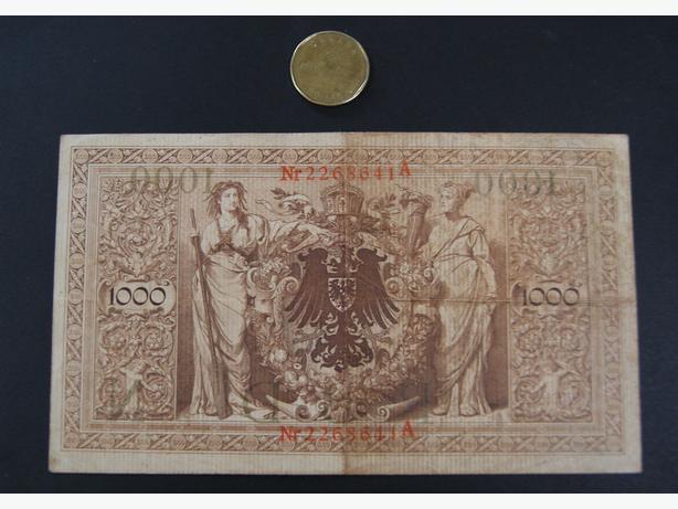 1910 GERMAN BANKNOTE