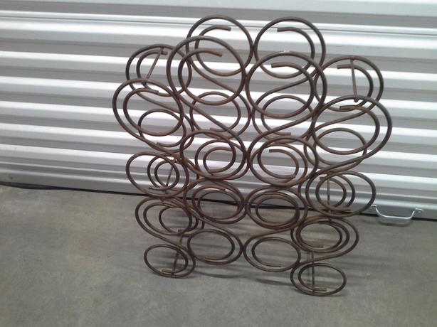 Wrought iron heavy sturdy wine rack