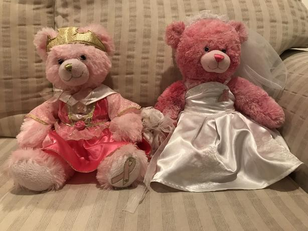 2 Build-A-Bears with Outfits