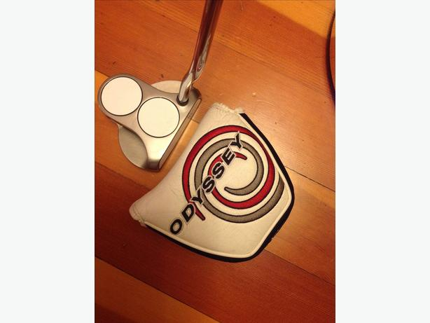 "Odyssey White Hot 2 Ball 34"" putter w new grip"