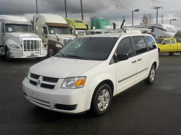 2010 Dodge Grand Caravan Cargo Van with Ladder Rack and Bulkhead Divider