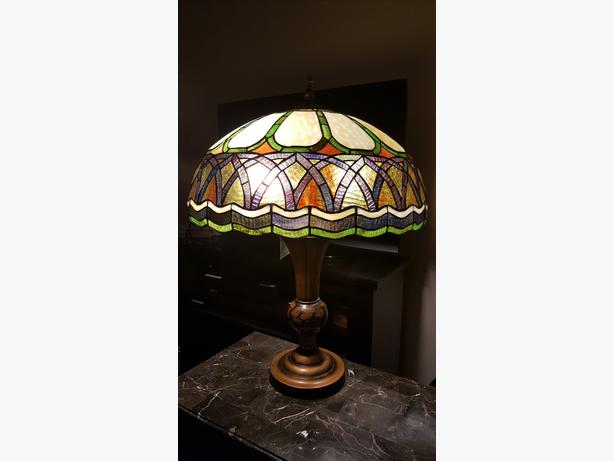Cairo and Cameron Tiffany Style table lamps (New, Tags on)