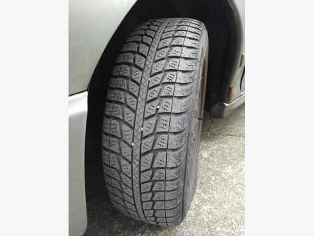 195/65R15 Snow tires on rims