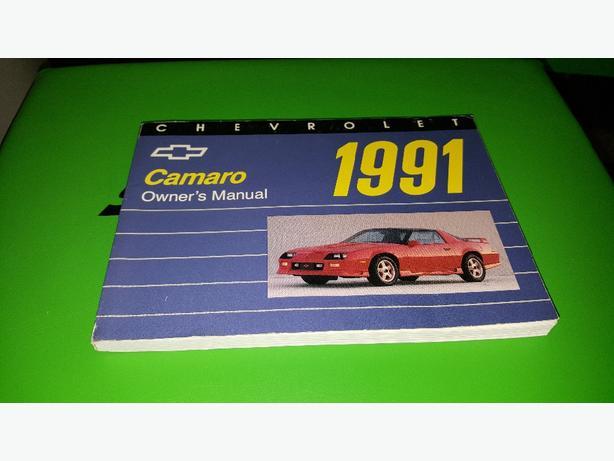 1991 chevy camaro owners manual west shore langford colwood rh usedvictoria com Camaro Repair Manual Camaro Shop Manual