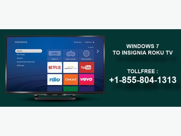 How to use the app Windows 7 to Insignia Roku TV
