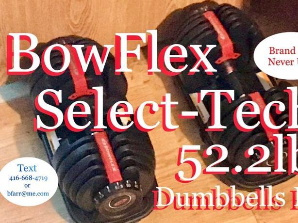 Bowflex Dumbbells Pair 52.2lbs each $320