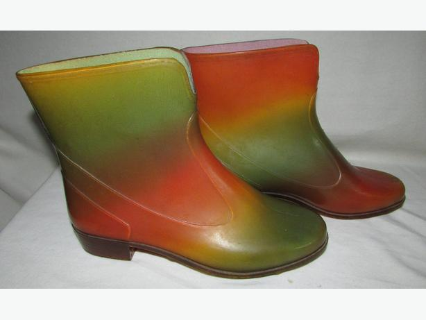 SARRIAZIENNE Vintage Rainbow Jelly Rain Ankle Booties EUR 38