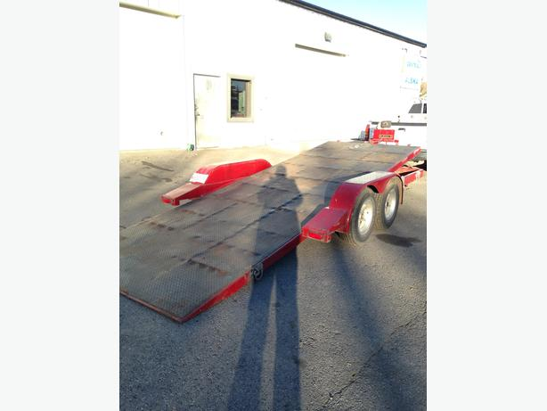 17ft Tilt and Load Flatbed Trailer with winch