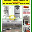 RESTAURANT FOOD EQUIPMENT AUCTION - THURS - JANUARY 18th @ 11 am